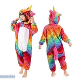 Fun and Colorful Onesie Pajamas For Children in 19 Different Styles - 4T / Fish scale Unicorn