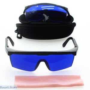 Golf Ball Finder Glasses Blue Lens with Case.