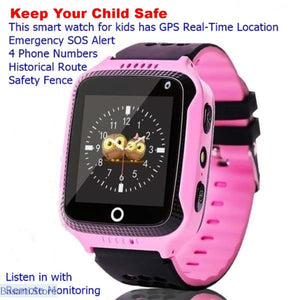 GPS Smart Watch With Camera SOS Call Location Tracker for Kids - 200003487