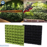 Green Wall Mounted Planting Flower Grow Container. Perfect for growing plants against a wall. - Decor Modern Design Novelties