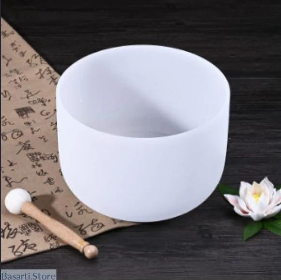 Handmade 8 inch Note A/B/C/D/E/F/G/ Frosted Quartz Chakra Crystal Singing Bowl - 200003840