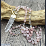 Handmade Natural Rose Quartz Pendant - 200000162