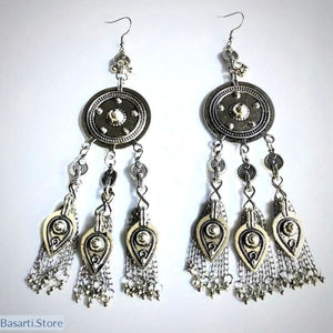Handmade Tribal / Ethno Earrings - Jhumka Style - tribal earrings