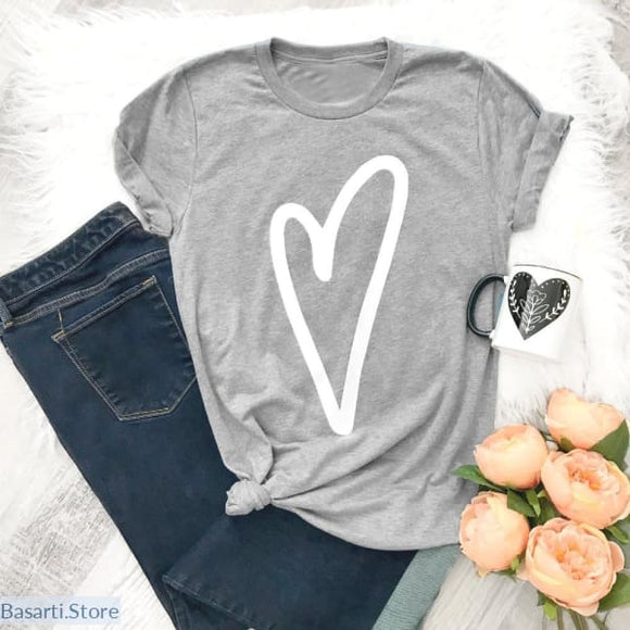Heart Shaped T-Shirt - 200000791