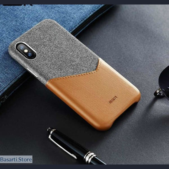 High Grade Leather with Soft Fabric Case for iPhone X XS XR XS - Soft Fabric Case for iPhone