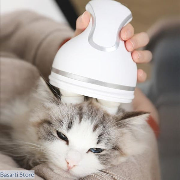 Intelligent Multi-Speed Cat Massager with Automatic Rotating Heads - 200003710