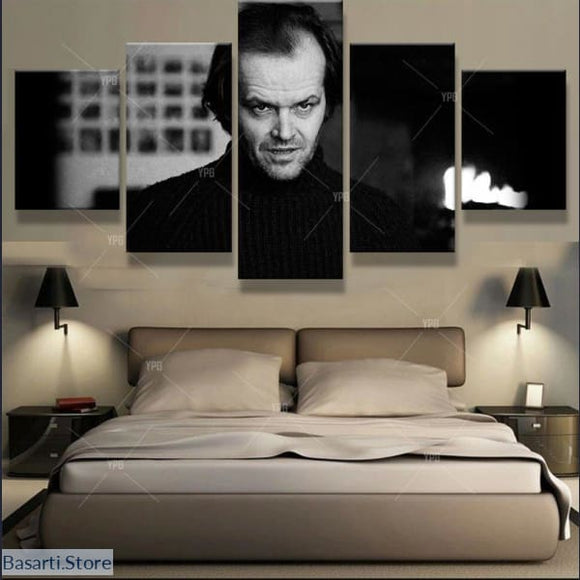 Jack Nicholson 5 Piece Canvas Wall Art - No Frame / Size Small - Jack Nicholson Print