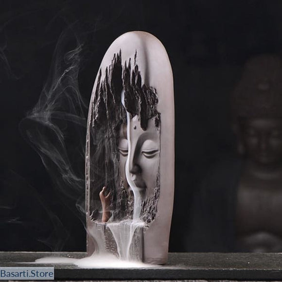 Large Ceramic Incense Burner - Zen Decor (10.5 High) + 20 incense cones - Decor Incense Zen Garden