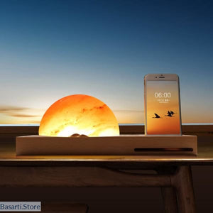 LED Dimming Himalayan Salt Lamp with Wireless Charger - 39050508
