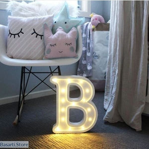 Luminous LED Letter or Number Night Light. Home Decoration Accessories. - Decor Modern Design Novelties