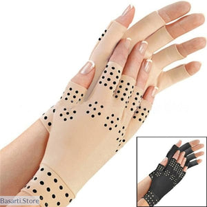 Magnetic Anti Arthritis Fingerless Compression Therapy Gloves