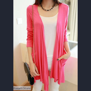 Medium Length Long Sleeved Cardigan in 11 Colors - 200000801