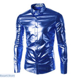 Mens Fashion Bright Color Nightclub Shirt - 348