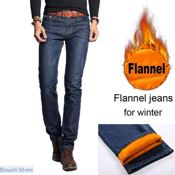 Mens Fashion Flannel Jeans - 200000378