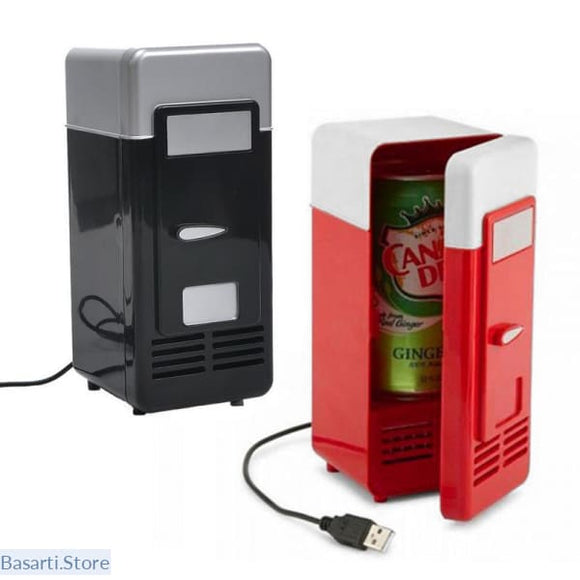 Mini USB Fridge Cooler Beverage Drink Cans Cooler/Warmer for Laptop/PC - Mini USB Fridge Cooler