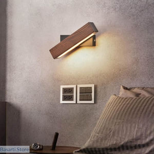 Modern Nordic Solid Wood LED Rotated Wall Lamp - 39050510