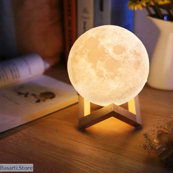 Moon Lamp Night Light. Led Touch On/Off Changing Color Night Lamp. - 8CM - Decor Modern Design Novelties