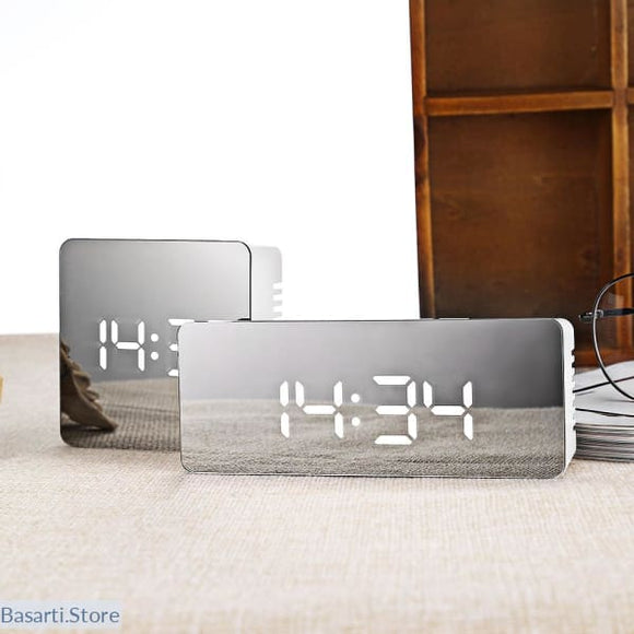 Multifunction LED Mirror Digital Alarm Clock - 200001459