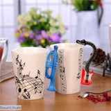 Musical Instrument Ceramic Coffee Cups - 100003290