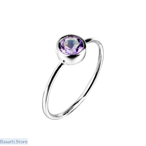Natural Amethyst Gemstone .925 Sterling Silver Rings - 7 - Fine Jewelry ring small amethyst