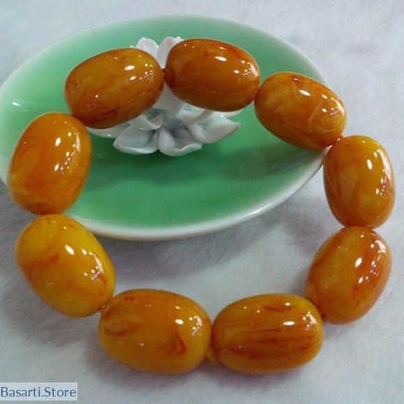Natural Bright Yellow Ore Stone Bracelet - 200000147