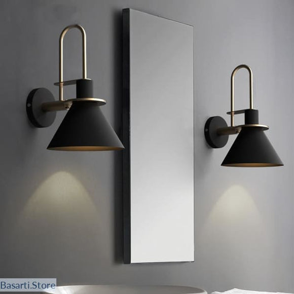 Nordic Modern Simple and Beautiful Iron Wall Lamp in 3 Colors - 39050510