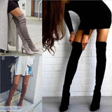 Over the Knee Stretch High Heel Boots in 3 Colors - 200000998