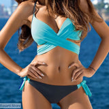 Padded Push-up Bra & Brief Sets - M / Sky Blue - Swimsuit