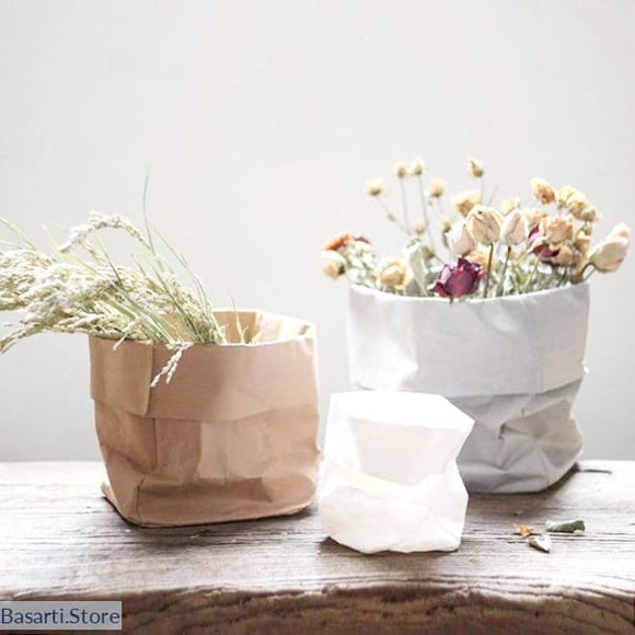 Paper Bag Vases Nordic Fashion - Paper bag vases