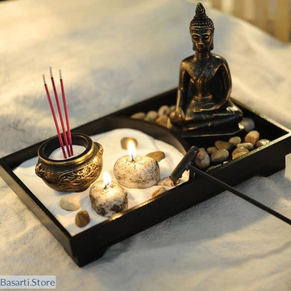 Peaceful Zen Garden Set - Buddha Incense Burner - Decor zen garden