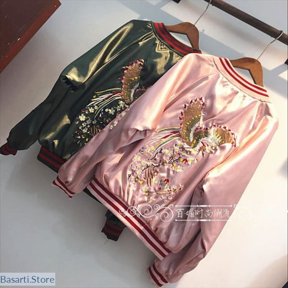 Phoenix Rising Embroidered Casual Jacket in 2 Colors - 200000801