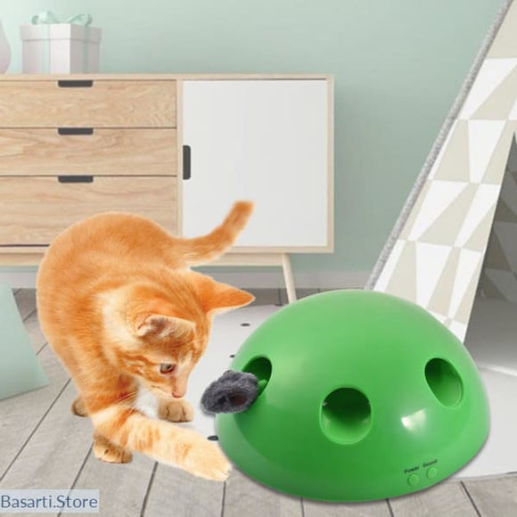 Pop Out Peek-A-Boo Electric Interactive Cat Toy - 200389152