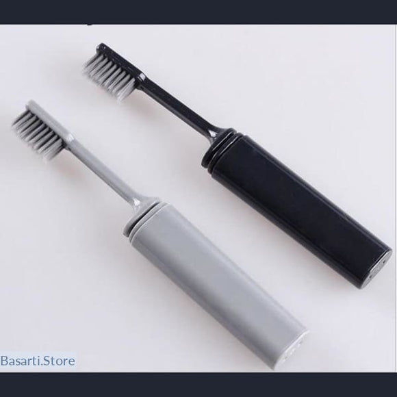 Portable Compact Bamboo Charcoal Folding Toothbrush - 330504
