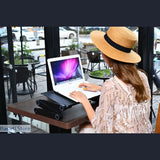 Portable Foldable 360 Degree Adjustable Laptop Table Stand With Mouse Pad - 37013001