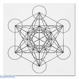 Printed Sacred Geometry Crystal Grid Altar Cloth 3 options - Light Green - Crystal Grid