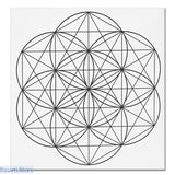 Printed Sacred Geometry Crystal Grid Altar Cloth 3 options - Light Yellow - Crystal Grid