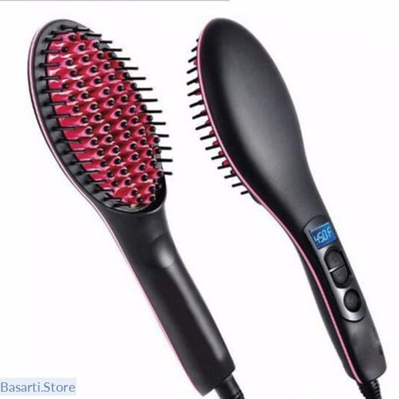 Professional Ceramic Electric Hair Straightening Brush - 200263142