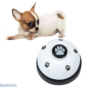 Puppy Interactive Toy: Bell Dog Ball-Shape - White - Pet