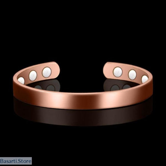 Pure Copper 6 Magnets Bangle Unisex - Wellness Energy tool