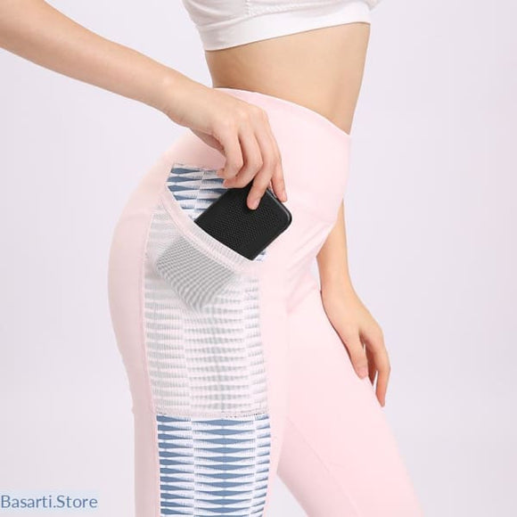 Push up High Waist Leggings with side Pocket - Pink / L - legging with pocket