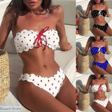 Push-Up Padded Bra Beach Bikini Set - 200000600