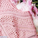 Revisited England Style Pink Hollowed-Out Lace Dress - Excellent Quality - Pink Sleeveless Hollow Out Lace Dress