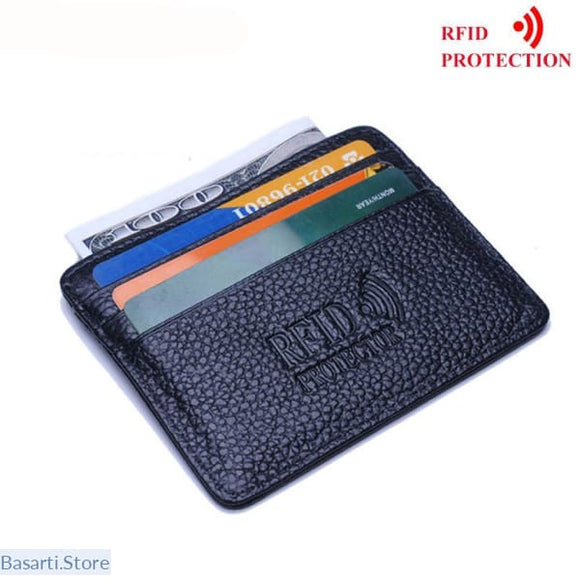 RFID Blocking Slim Leather Wallet - Gadget