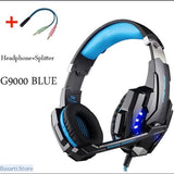Serious Gamers Only! Deep Bass Stereo Headphones with Mic for PC Computer Gamer Tablet PS4 X-BOX - G9000 BLUE CABLE / China - Deep Bass