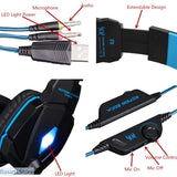 Serious Gamers Only! Deep Bass Stereo Headphones with Mic for PC Computer Gamer Tablet PS4 X-BOX - Deep Bass Stereo Headphones