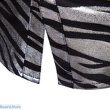 Shiny Zebra Striped Nightclub Shirt - 348