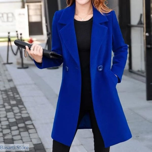 Slim Elegant Woolen Jacket In 4 Colors - 200001907