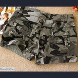Slim Fit Camouflage Mini Shorts - 200000367