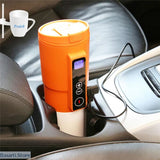 Smart Temperature Control Electric Heating Cup For Car - Orange / 13oz 380ml - 100003290