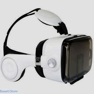 Smartphone VR Headset with Earphones and Bluetooth Controller